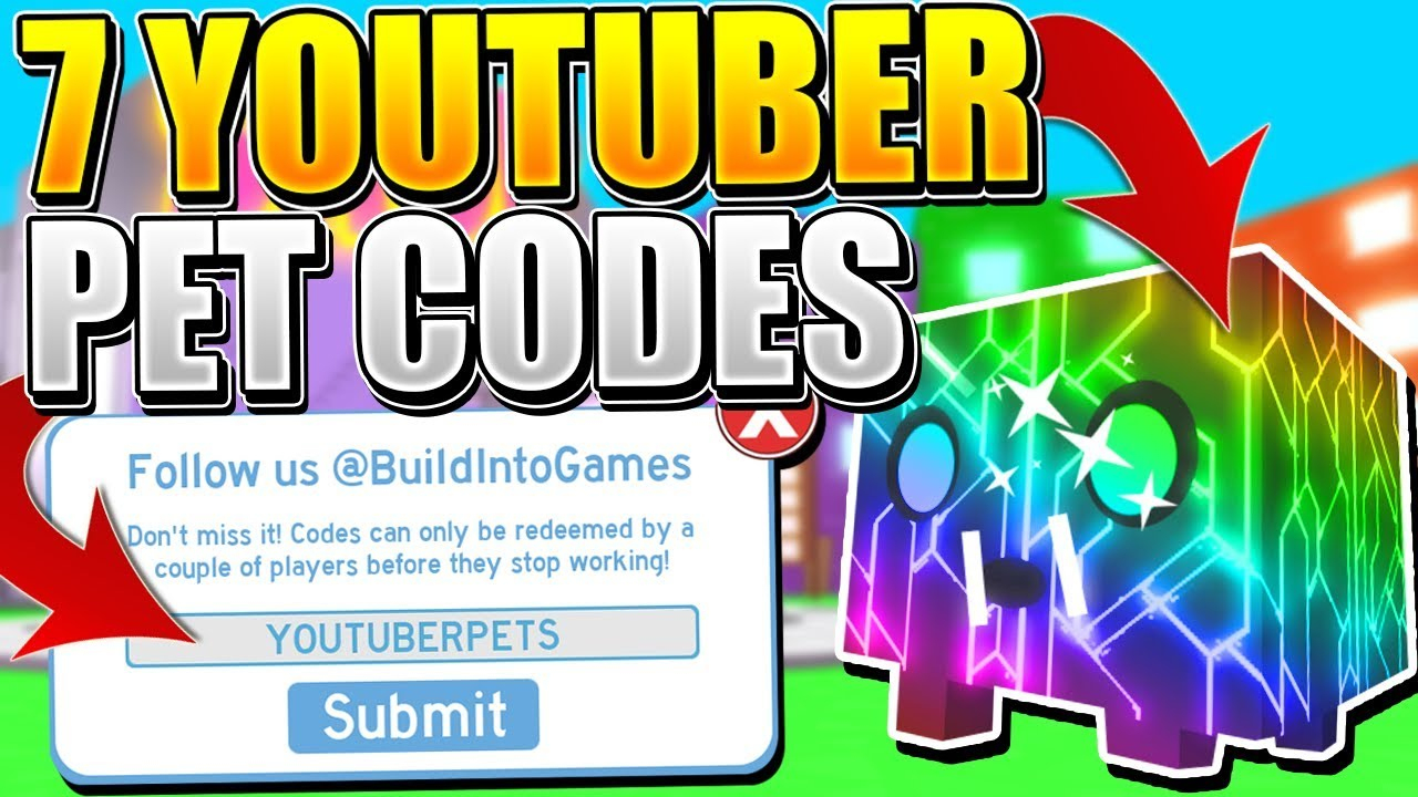 7 Rainbow Youtuber Pet Codes In Pet Simulator! (Roblox)