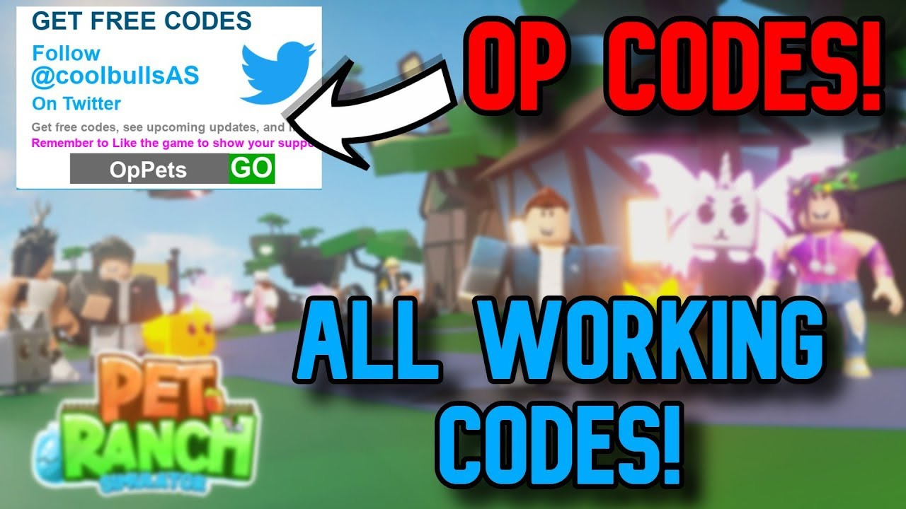 All *op* Working Codes November  2019! Roblox Pet Ranch Simulator