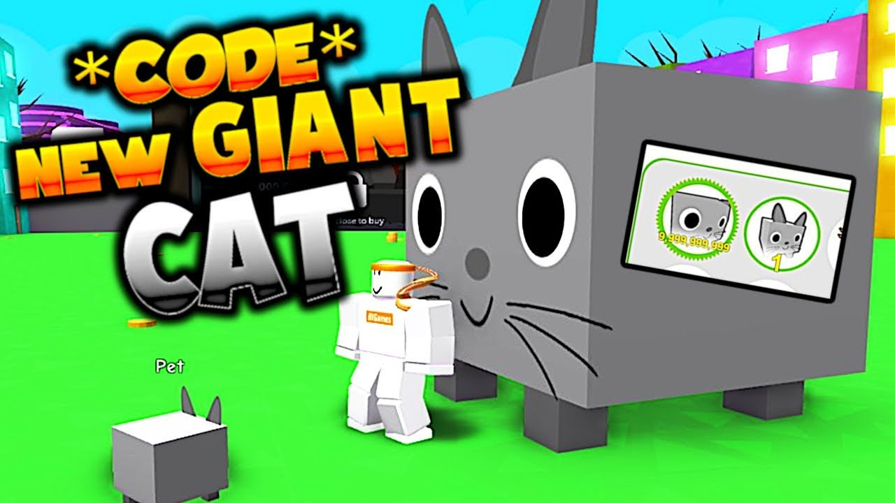 *code* How To Get The Giant Cat Pet In Pet Simulator Easy - Giant Cat Code  Pet Simulator Roblox