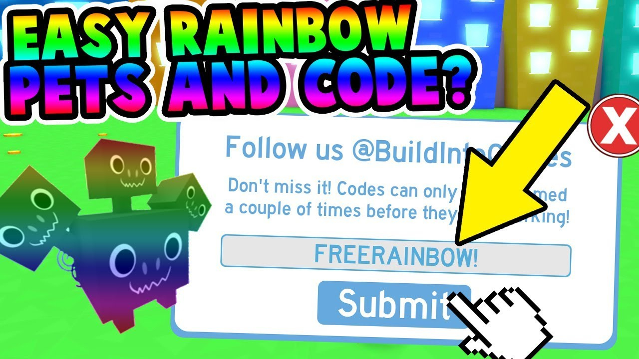 How To Get Rainbow Pets Easy & Code? (Pet Simulator) - Youtube