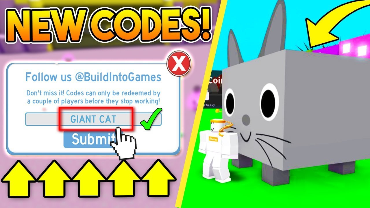 New *exclusive* Codes In Pet Simulator! | Roblox