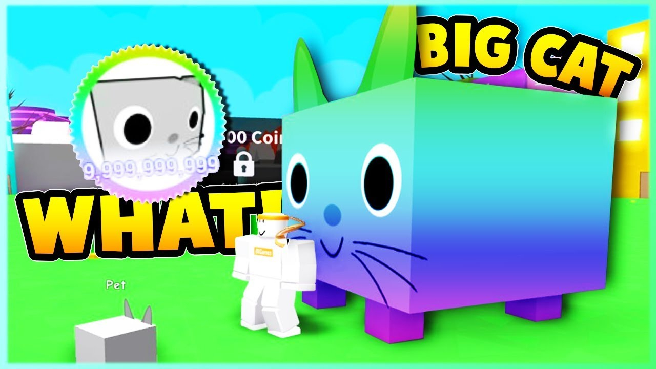 *new* Overpowered Big Cat Pet! Pet Simulator | Roblox