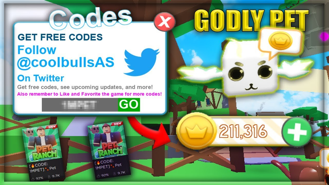 Roblox Pet Ranch Simulator Codes October 2019 | Get My Robux