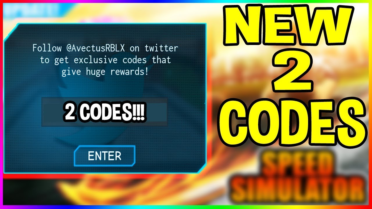 New Speed Simulator 2 Codes August 2018 | Roblox Speed Simulator 2 Codes