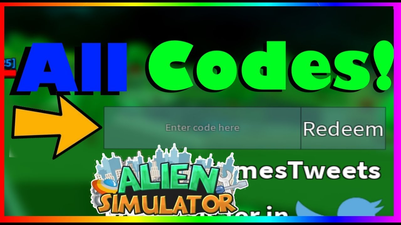 Alien Simulator *all* New Codes! (2019) |Roblox