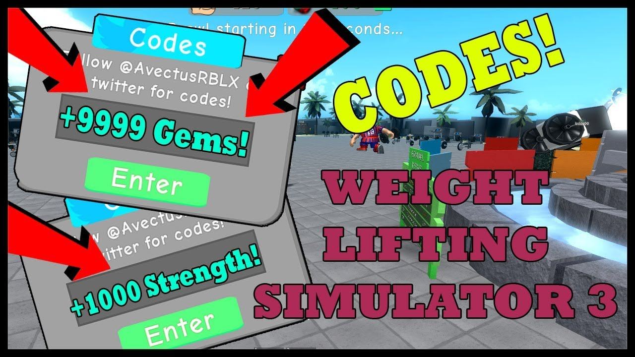 * 2* New Codes In Weight Lifting Simulator 3 | Roblox